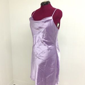 L AVON Lilac Silky Chemise Nightgown Lingerie